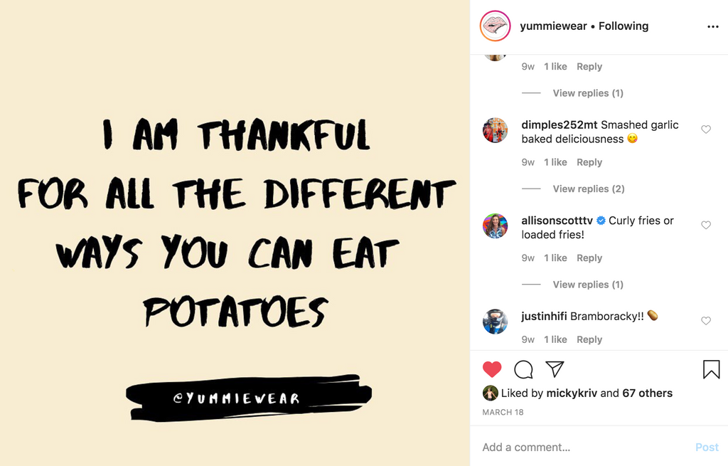 I Am Thankful For All The Different Ways You Can Eat Potatoes