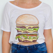 Triple Cheeseburger Slouchy Tee