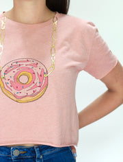 Donut Necklace Cropped Tee