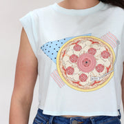 Pizza Record Crop Tee