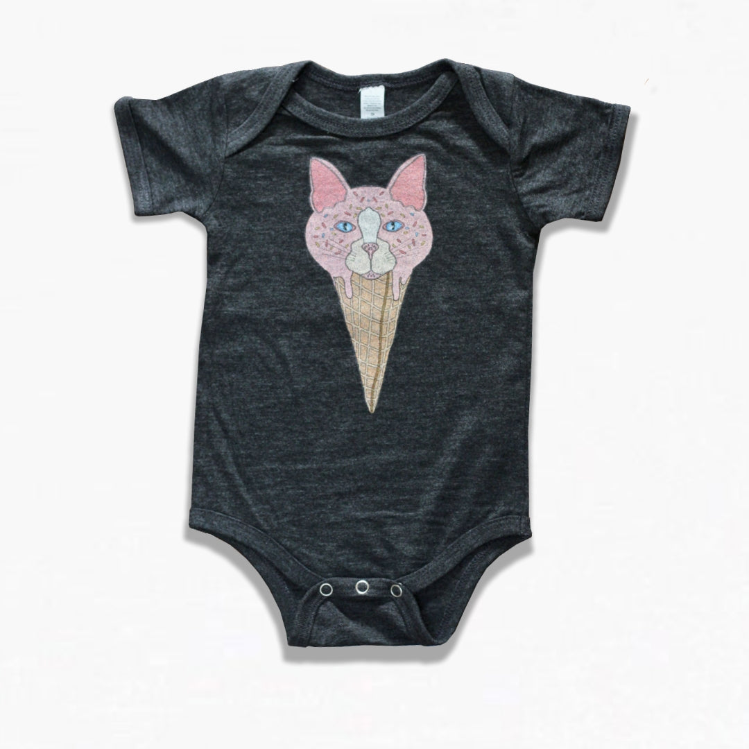 Cat Cone Baby One Piece