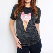Cat Ice Cream Cone Tee