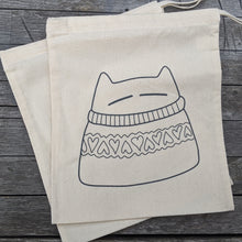 Load image into Gallery viewer, Stitch your own sweatercat - project bag