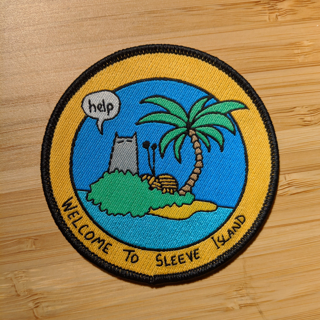 Welcome to Sleeve Island patch