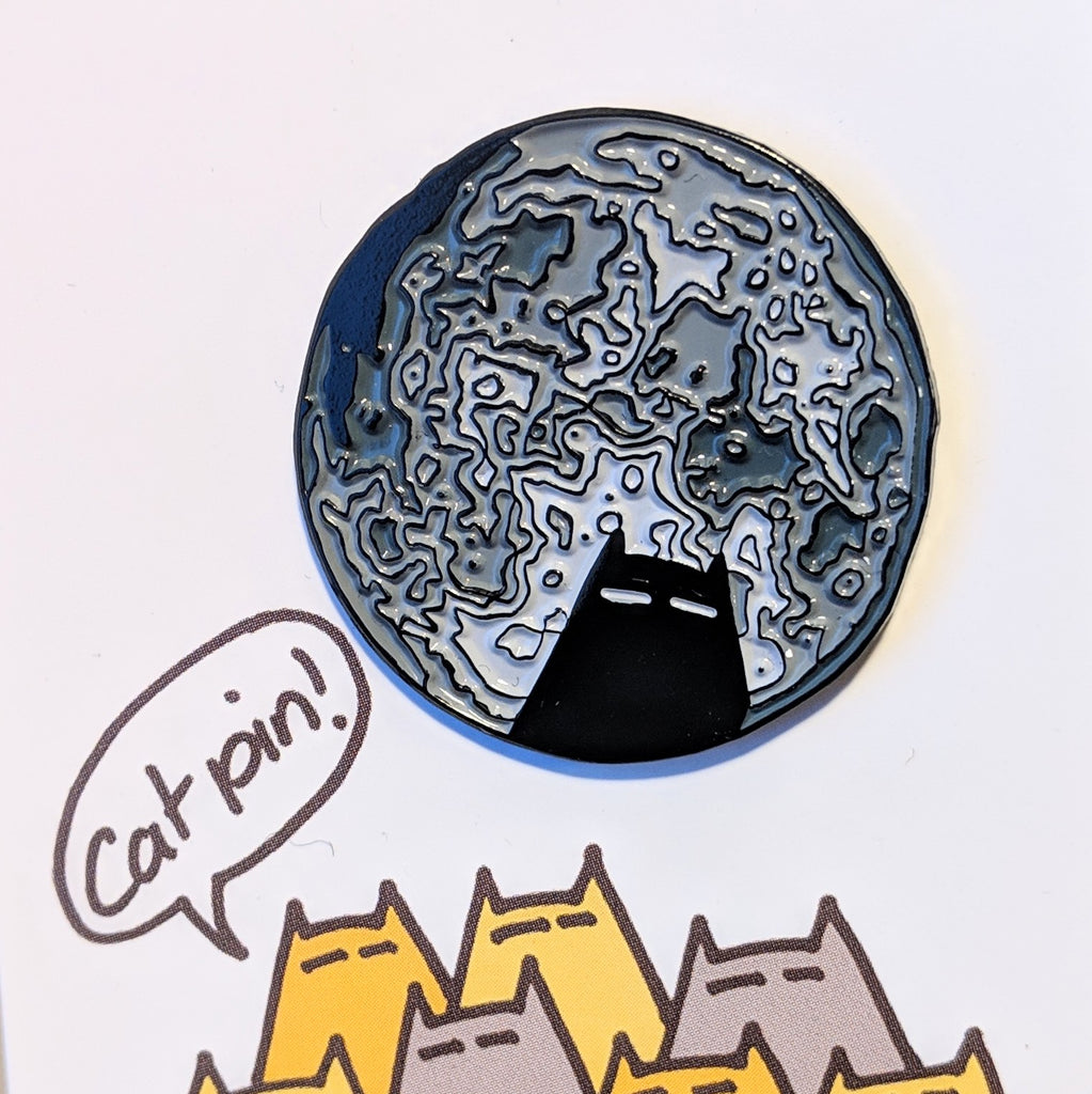 Total Eclipse of the Cat enamel pin