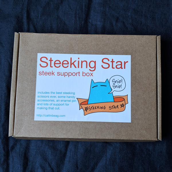 Steek support box