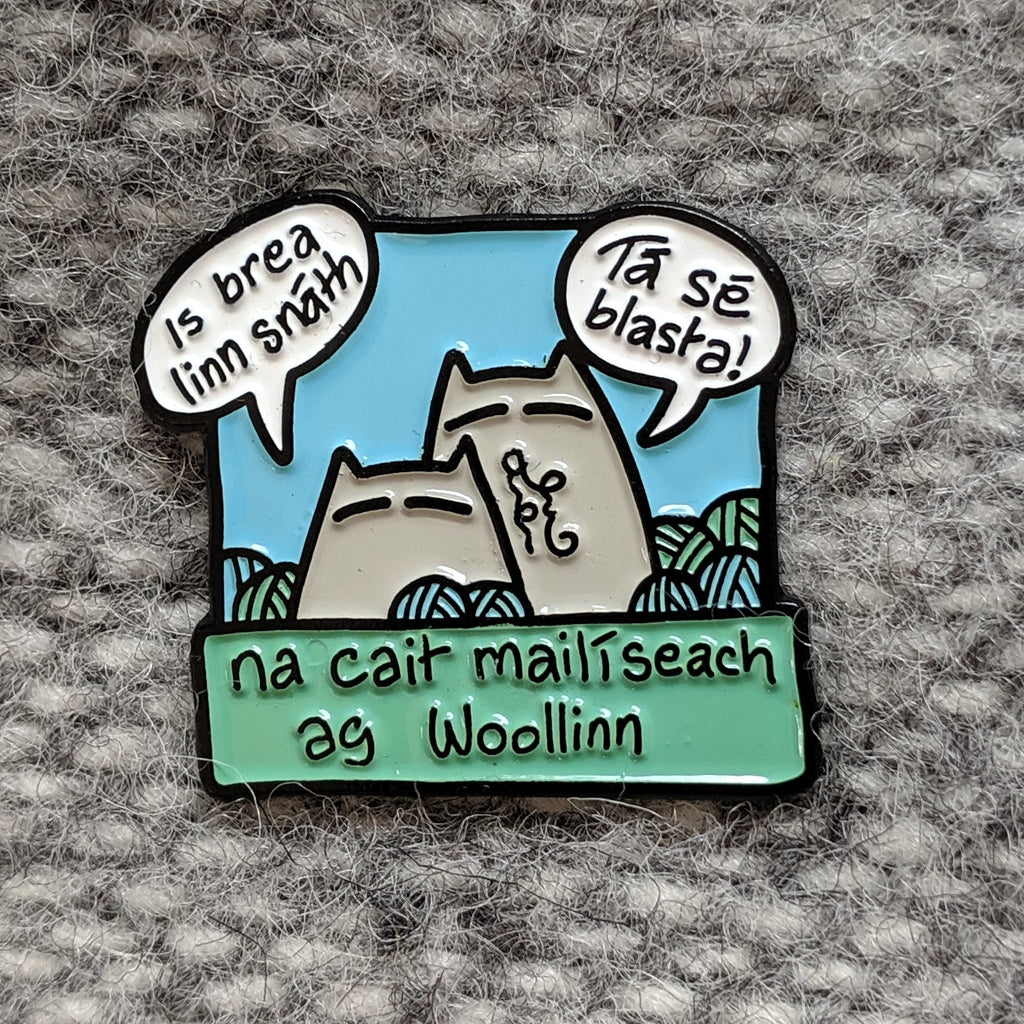 Sinister cats at Woollinn enamel pin