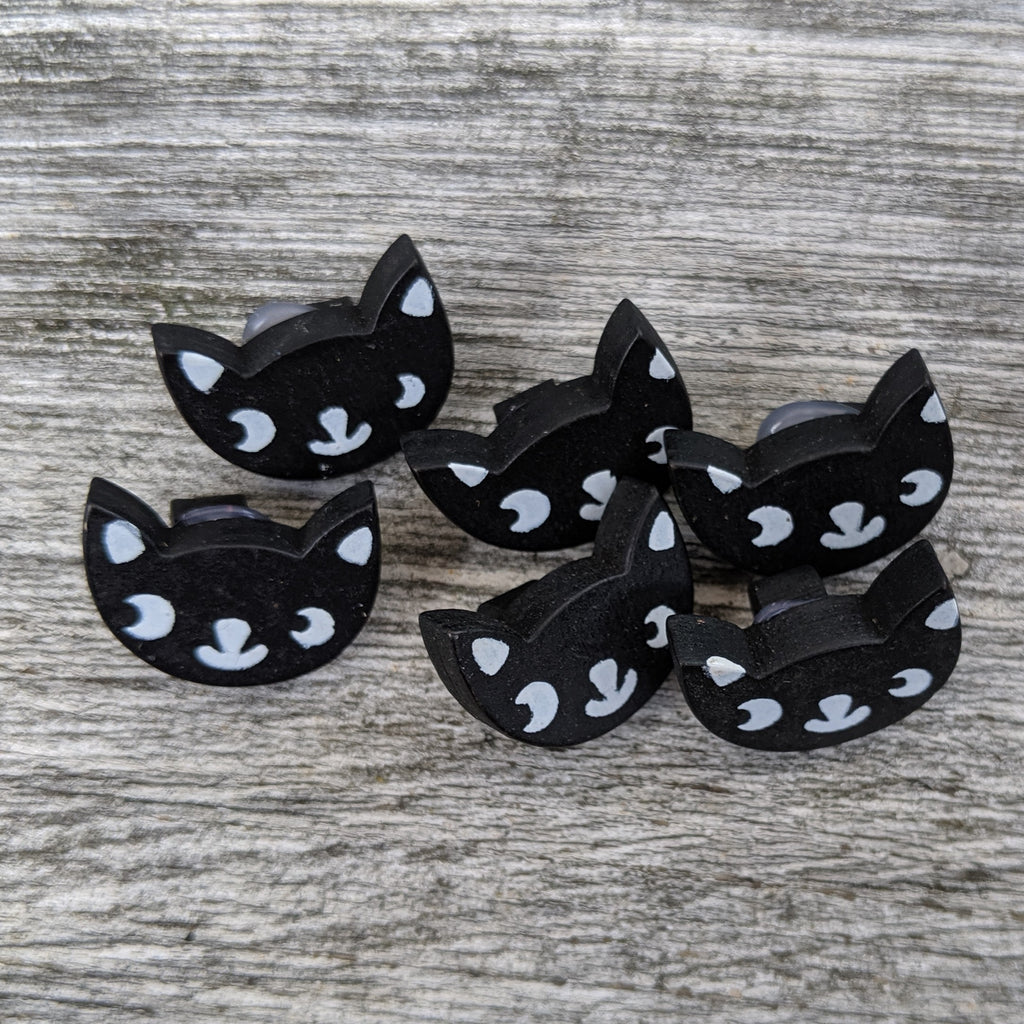 Black catface button pack