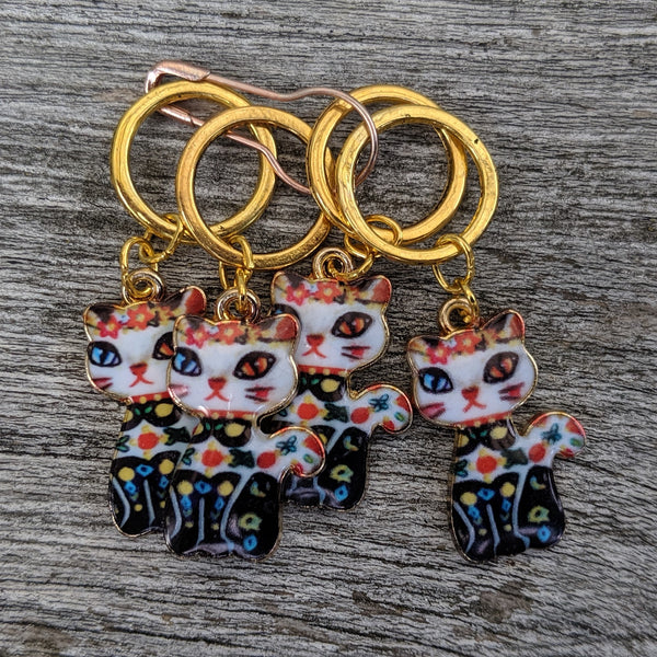 Party cat stitchmarkers