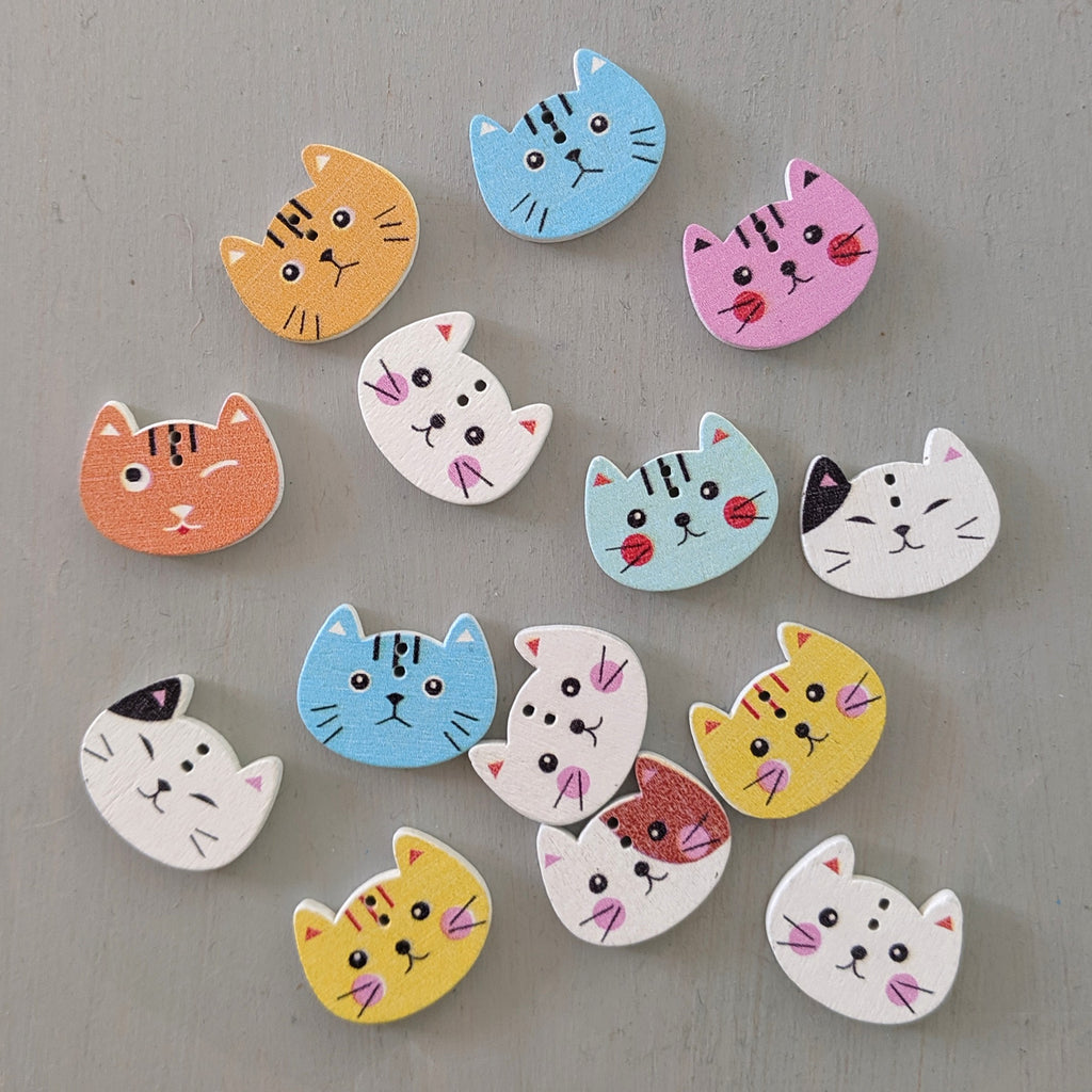 Mixed catfaces button pack