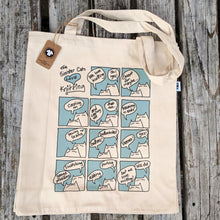 Load image into Gallery viewer, Sinister Cats Love Knitting tote