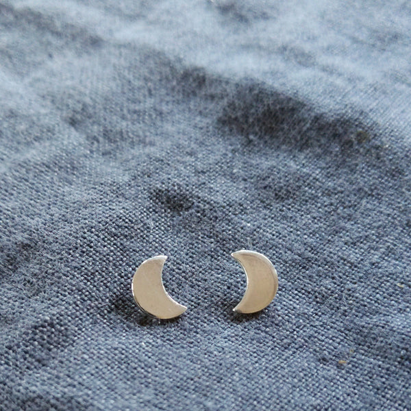Tiny moon earrings
