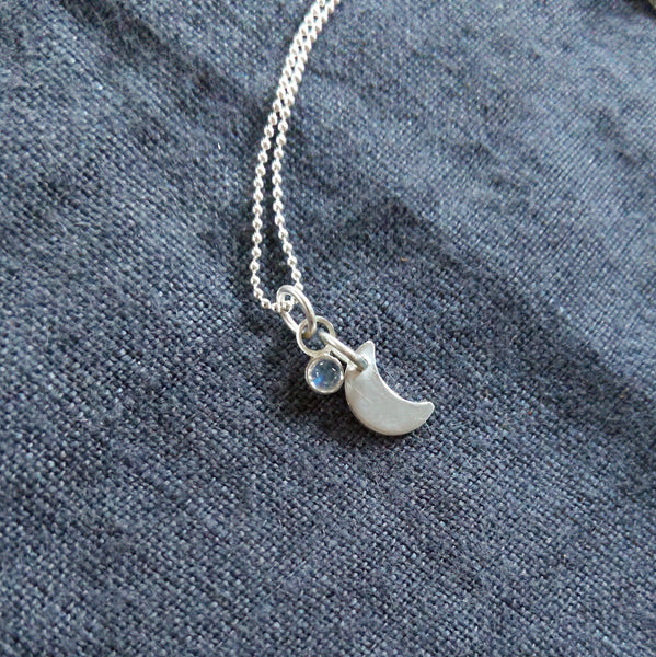 Tiny moon pendant