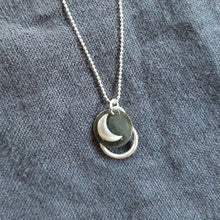 Load image into Gallery viewer, Moon stitchmarker pendant