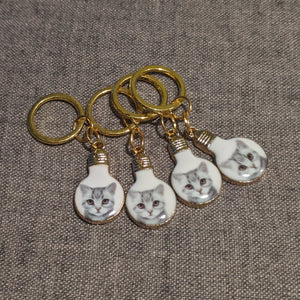 Bulb cat stitchmarkers