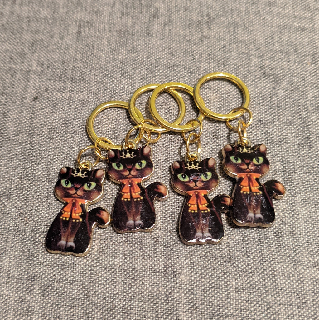 Scarf cat stitchmarkers