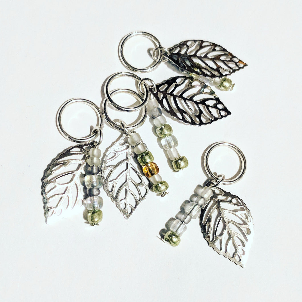 Winter leaf - stitchmarker set