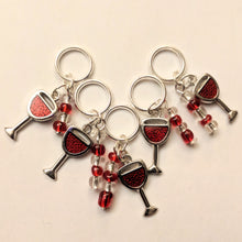 Load image into Gallery viewer, Wine O Clock- stitchmarker set