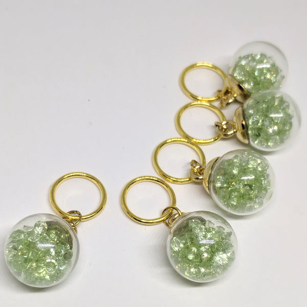 Mint bauble - stitchmarker set