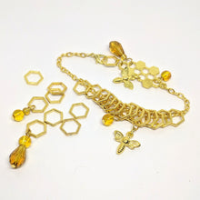 Load image into Gallery viewer, Beekeeper - charm bracelet & stitchmarker set