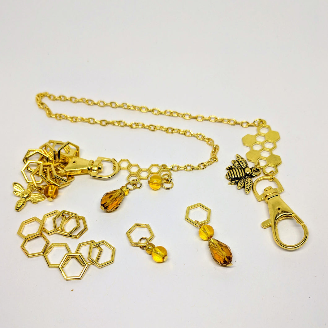 Beekeeper - keeper chain & stitchmarker set