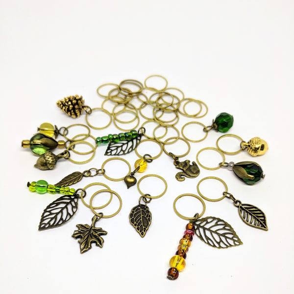 Deep In The Woods - charm bracelet & stitchmarker set