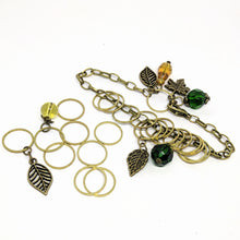 Load image into Gallery viewer, Deep In The Woods - charm bracelet & stitchmarker set