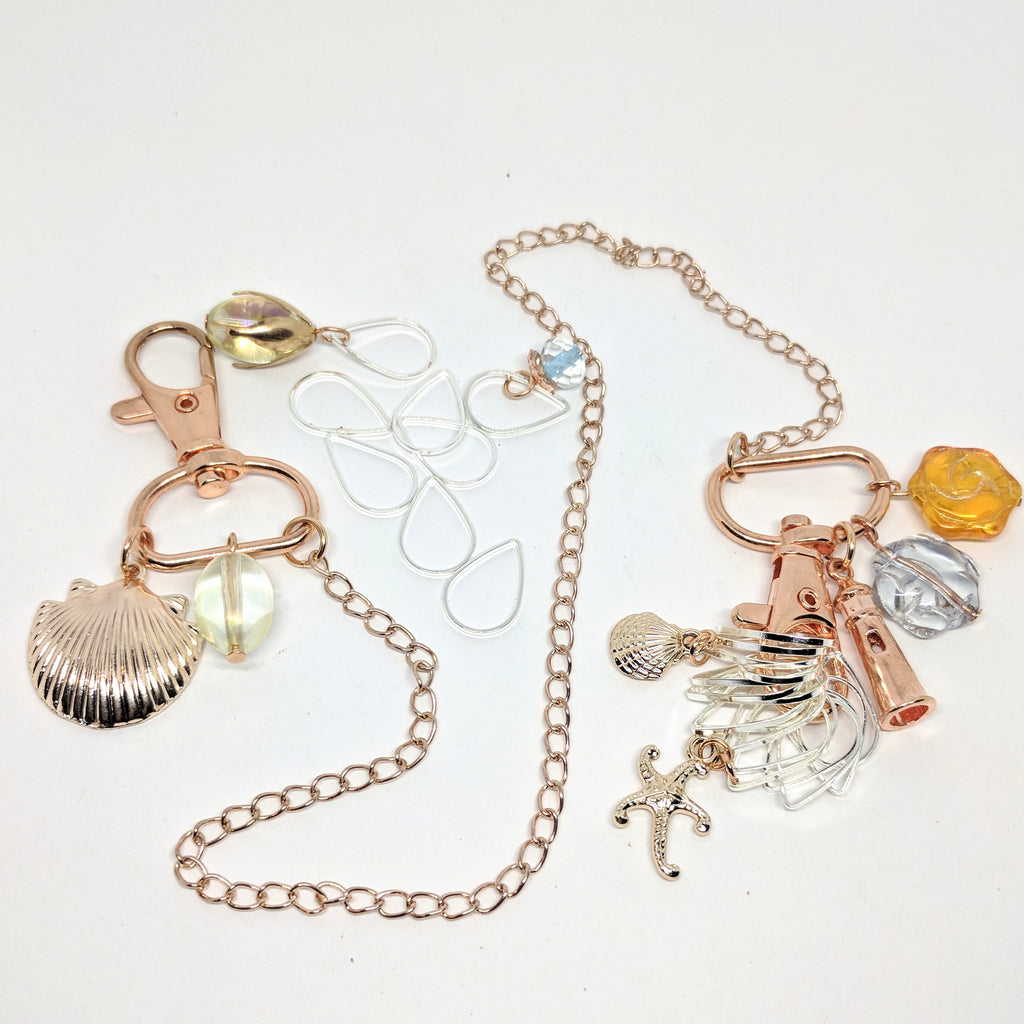 On The Beach - keeper chain & stitchmarker set