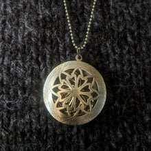 Load image into Gallery viewer, Filigree disk stitchmarker pendant