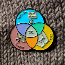 Load image into Gallery viewer, Venn Diagram of Me enamel pin