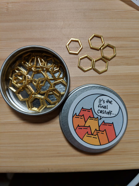 Hexagon markers - gold