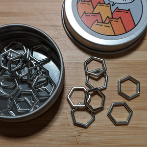 Hexagon markers - silver