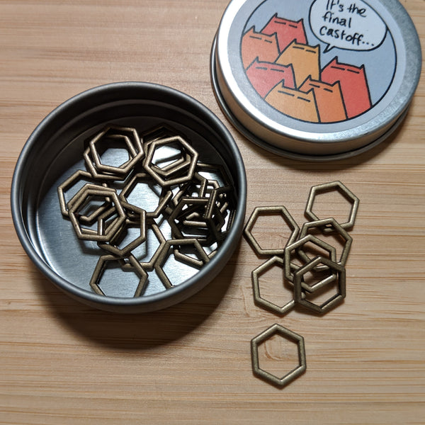 Hexagon markers - bronze