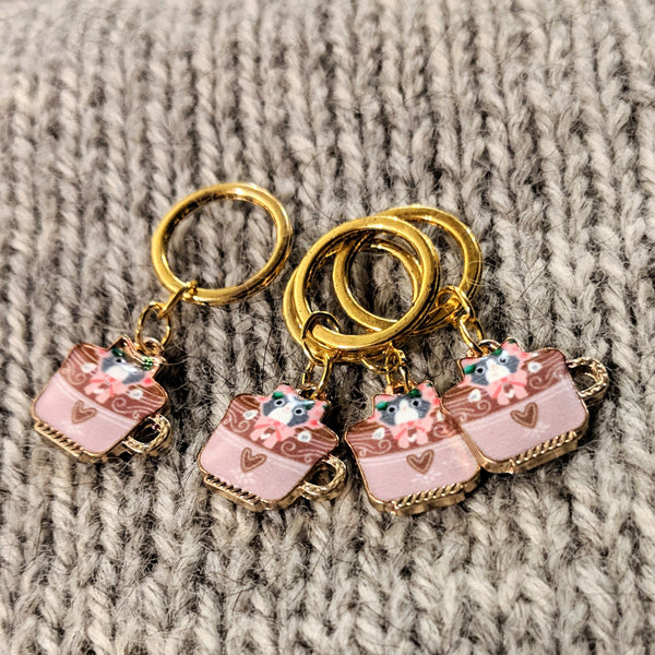 Teacat stitchmarkers