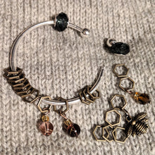 Load image into Gallery viewer, Bronze beekeeper stitchmarker bangle