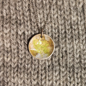 Abstract enamel pendant - acid