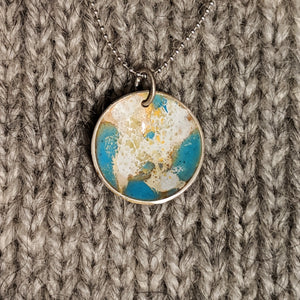 Abstract enamel pendant - sky