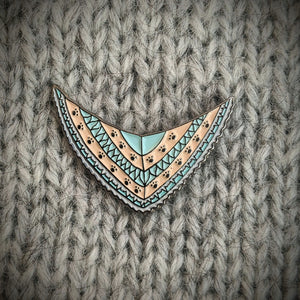 Cat Knits: Cats on knitwear enamel pin set