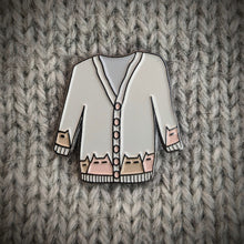 Load image into Gallery viewer, Cat Knits: Cats on knitwear enamel pin set