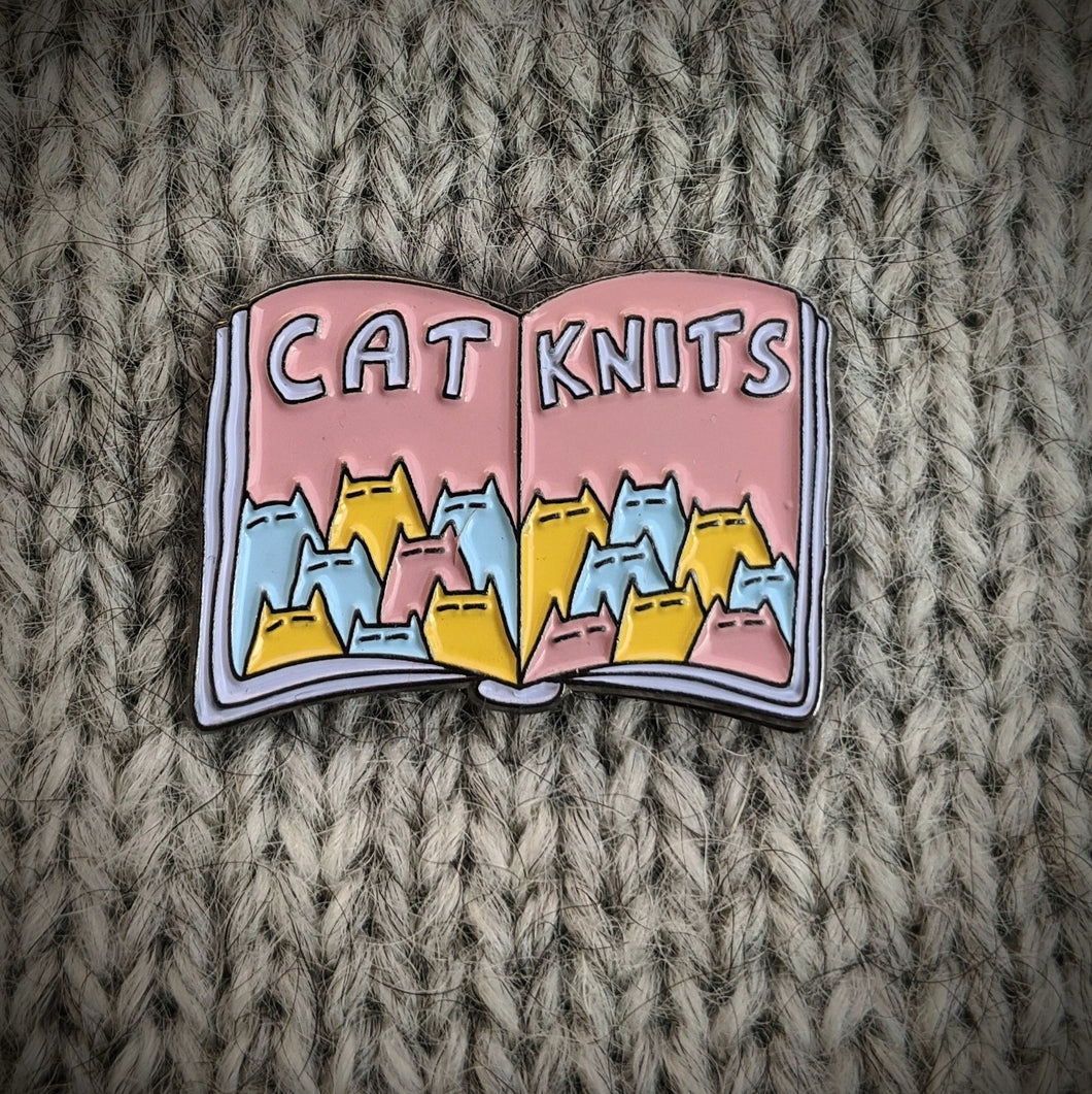 Cat Knits enamel pin
