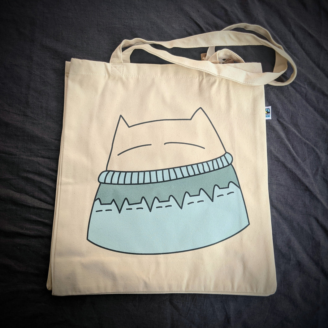Cat Knits: Tote bag