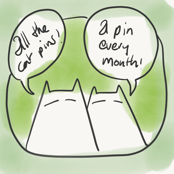 All the cat pins - Cat Pin Club