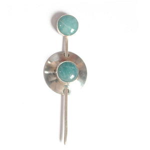Amazonite shawl pin