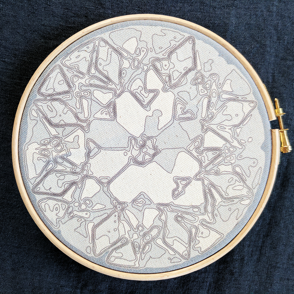 'Ice or Diamond' embroidery kit