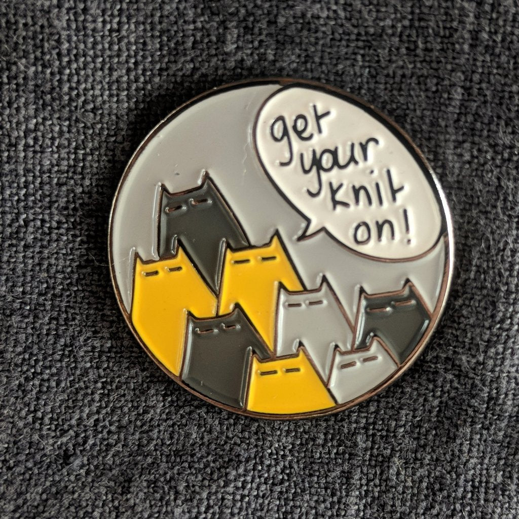 Get Your Knit On enamel pin