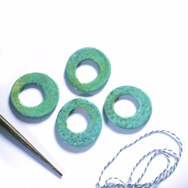 Verdigris - ceramic shawl pin