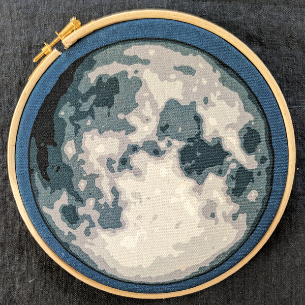'Hello, the Moon!' embroidery kit