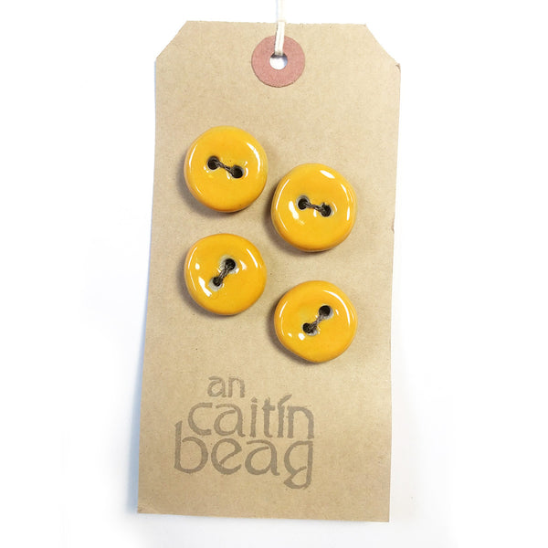 Mustard Seed ceramic buttons