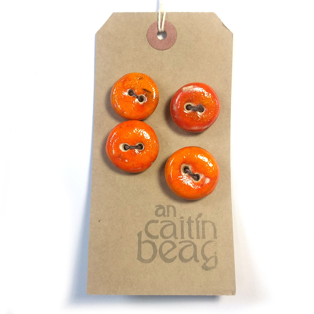 Tangerine Peel ceramic buttons