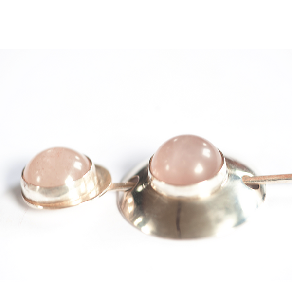 Rose Quartz shawl pin